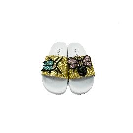 Ciabatta in plastica 180 - Glitter Oro Scarabeo+Moscone