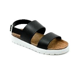 Sandalo in plastica Amanda Fascia - Nero/Bianco