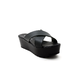 Plastic sandal Grace Cross Black