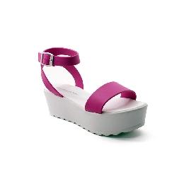 Plastic Sandal Wedge Grace Cinturino - Fucsia 15