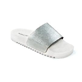Ciabatta in plastica 190 - Bianco + Stretch Soft Argento