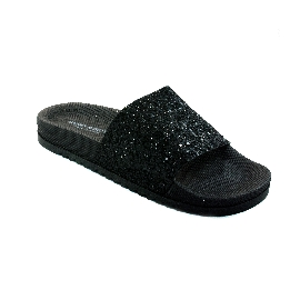 Pool Slider 190 - Black + Black Glitter