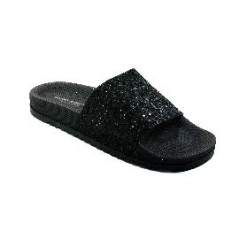 Ciabatta in plastica 190 - Nero + Glitter Nero