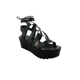 Plastic Sandal Wedge Grace Clio - Black