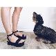 Wedge sandal Grace Black