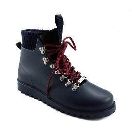 Plastic boots Victor - Navy 28 + Blue Wool-Navy-Bordeaux