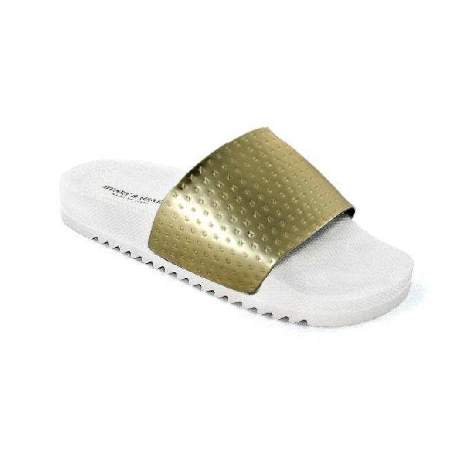 Pool Slider 190 - White + Gold Bull Met