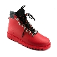 Plastic boots Victor - Red + Grey Wool-Black-BlackOrange