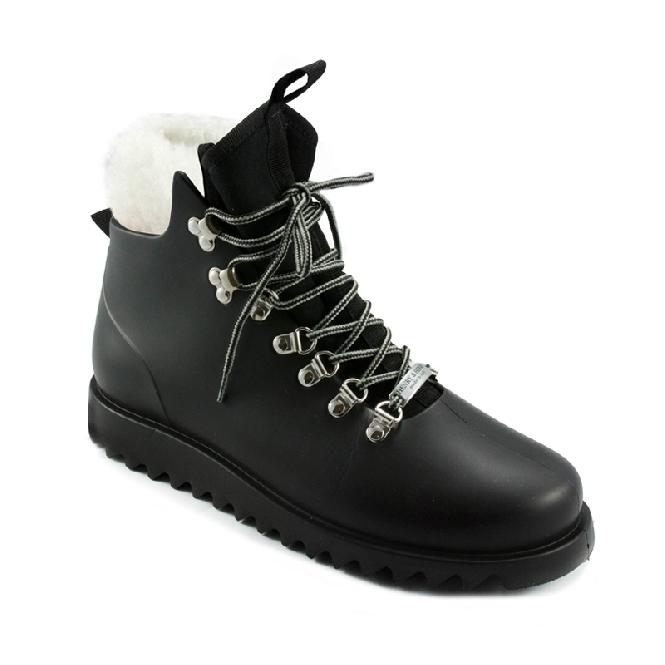 Plastic boots Victor - Black + Montone/Black/Black-Grey