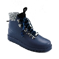 Plastic boots Victor - Navy 28 + Black/White Wool-Black-Black-Blue