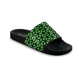 Ciabatta in plastica 180 - Nero + Moron Verde