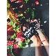 Ciabatta in plastica 180 - Glitter Nero 'Diet Starts Tomorrow'
