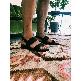 Plastic Sandal Cesare Fascia - Black