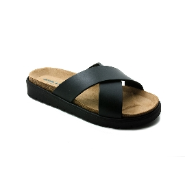 Plastic sandal Amanda Cross - Black