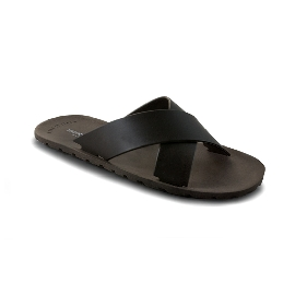 Plastic Slipper Cross Dark Brown 29
