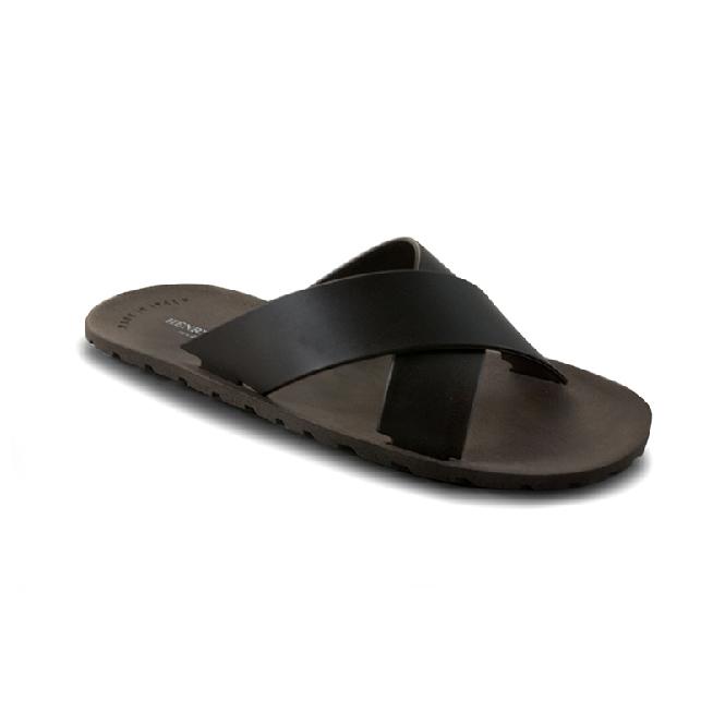 Plastic Slipper Cross Dark Brown 29