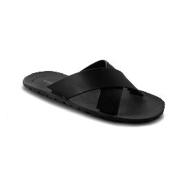 Plastic Slipper Cross Black