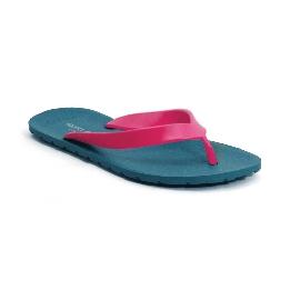 Plastic Slipper Flipper - Petrol 11 + Pink 65
