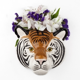 Tiger Wall Flower Vase