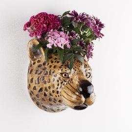 Leopard Wall Flower Vase