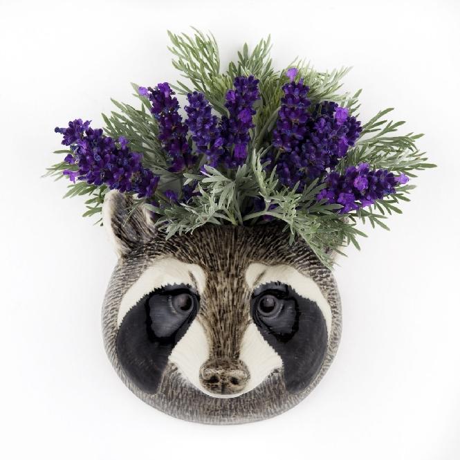 Bulldog Wall Flower Vase
