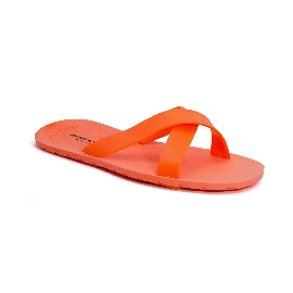 Plastic Slipper Cross Fluo orange 37 Thinner Upper