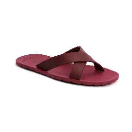 Plastic Slipper Cross Red 48 Thinner Upper