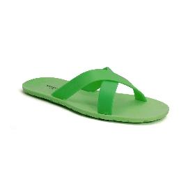 Plastic Slipper Cross Fluo green 36 Thinner Upper