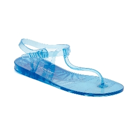 Sandalo infradito in plastica Athena Azzurro Trasparente