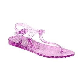 Plastic Sandal Athena Transparent Fuchsia Glitter
