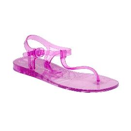 Plastic Sandal Athena Transparent Fuchsia