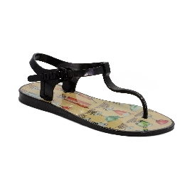 Plastic Sandal Athena Black + Cocktail